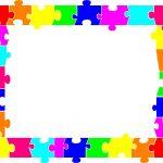 Puzzle Border   Clipart Best | Christmas | Printable Border, Color   Printable Rainbow Puzzle