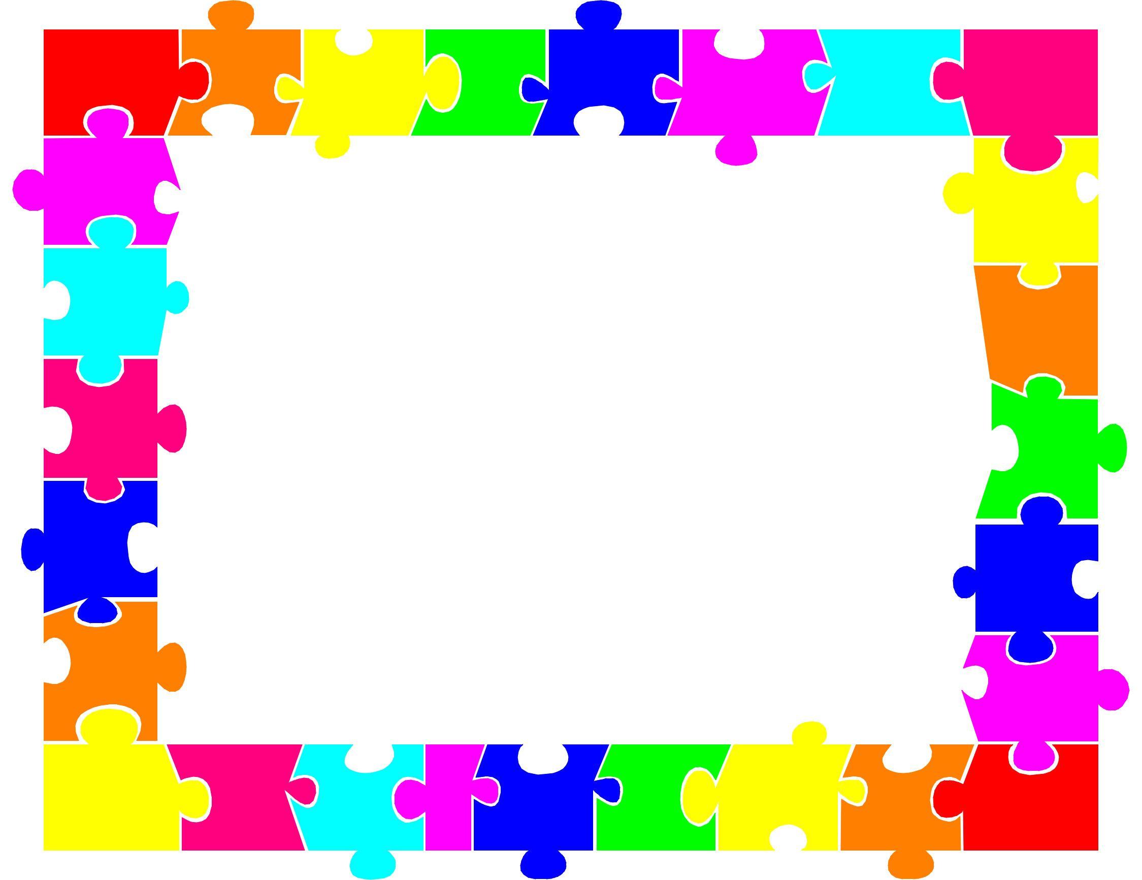 Puzzle Border - Clipart Best | Christmas | Printable Border, Color - Printable Rainbow Puzzle