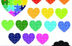 Printable Puzzle Heart