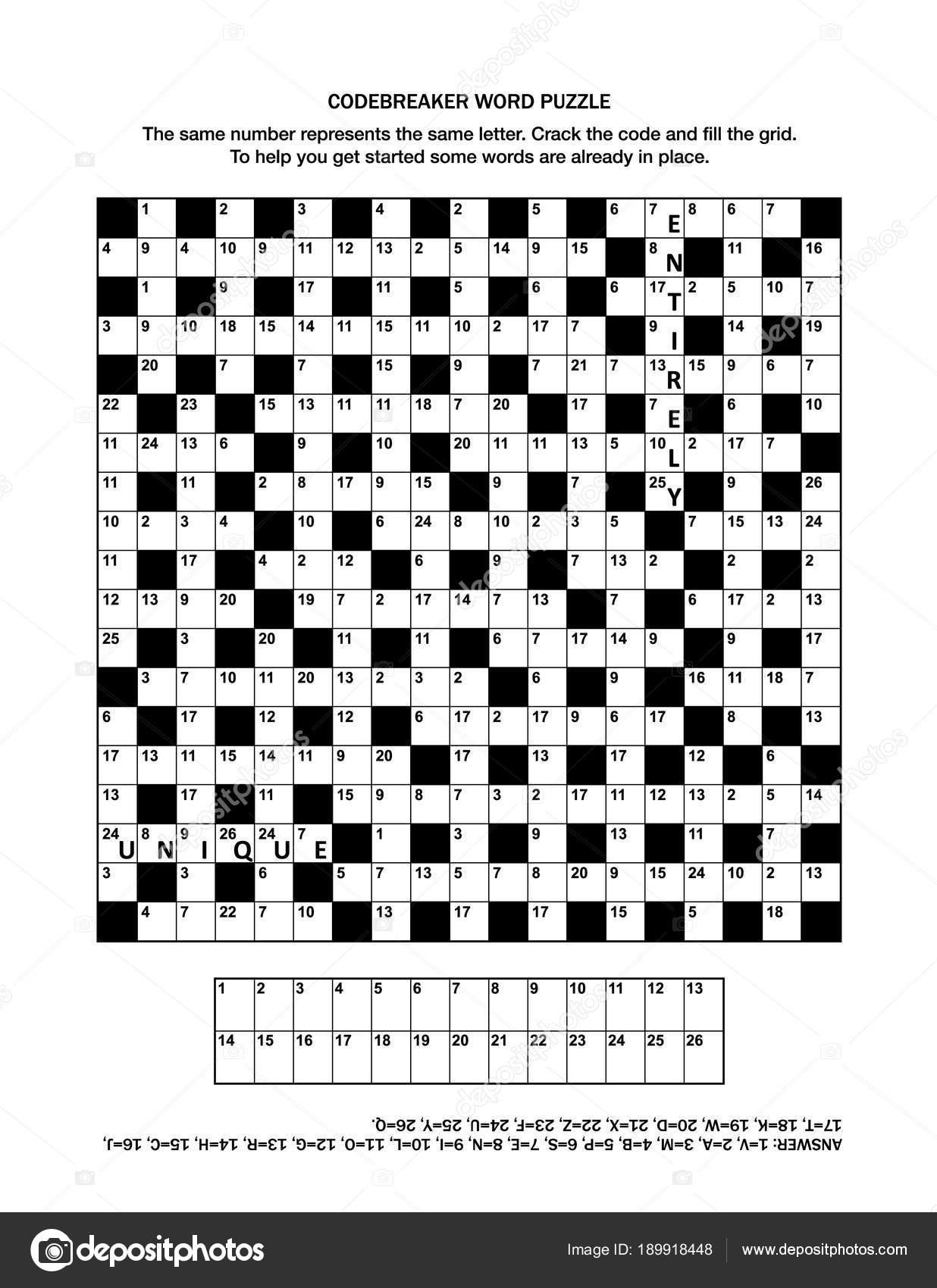 Puzzle Page Codebreaker Codeword Code Cracker Word Game Crossword - Printable Codeword Puzzle