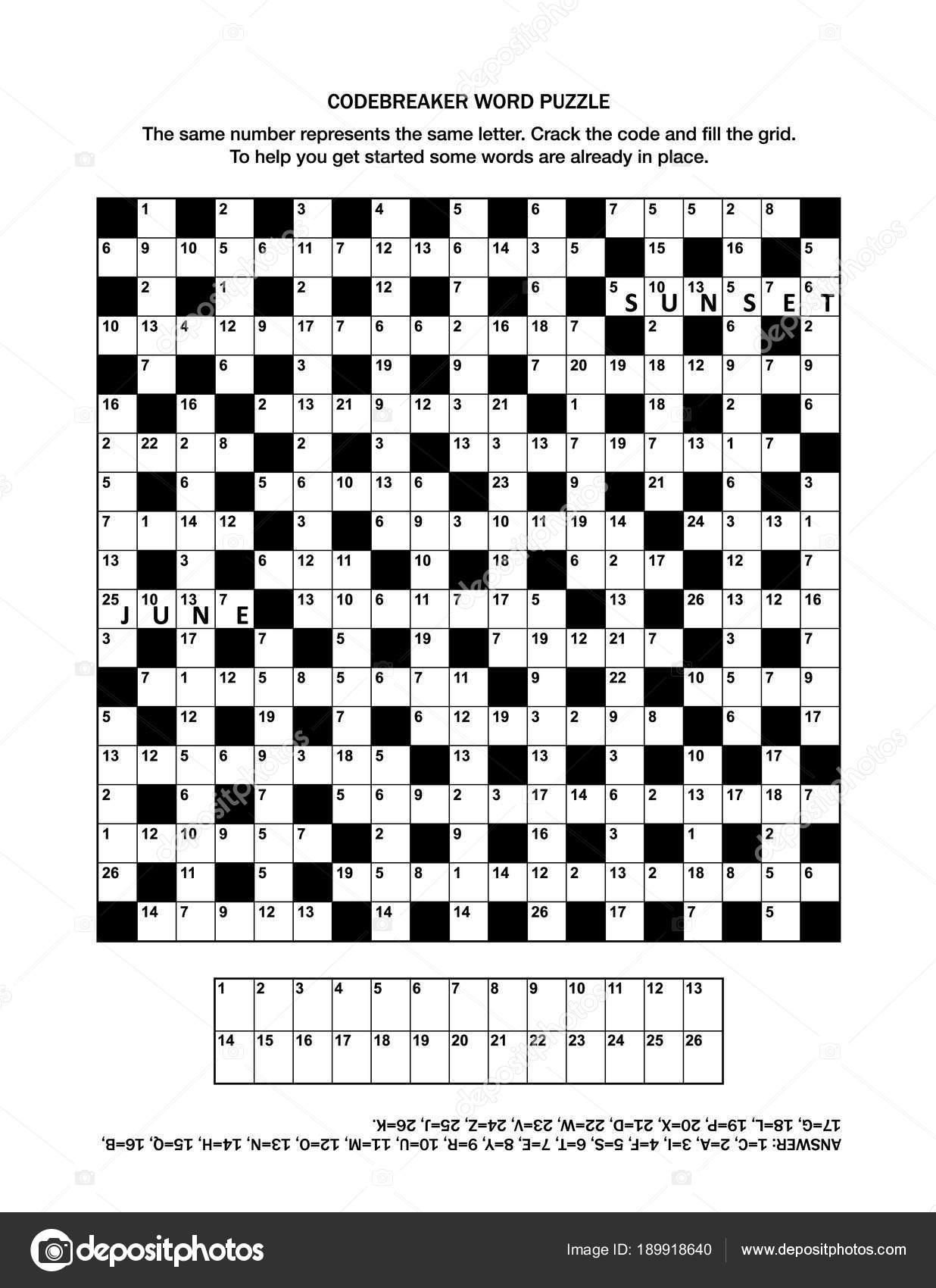 Puzzle Page Codebreaker Codeword Code Cracker Word Game Crossword - Printable Codeword Puzzles