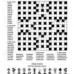Puzzle Page With Two Puzzles: Big 19X19 Criss Cross Word Game   Printable Minesweeper Puzzles