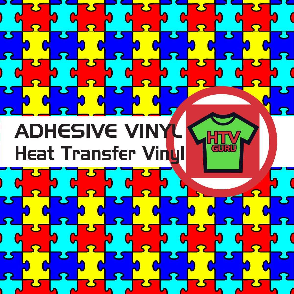 Puzzle Piece Autism Pattern Htv And Outdoor Vinyl Sheets | Etsy - Puzzle Print Htv