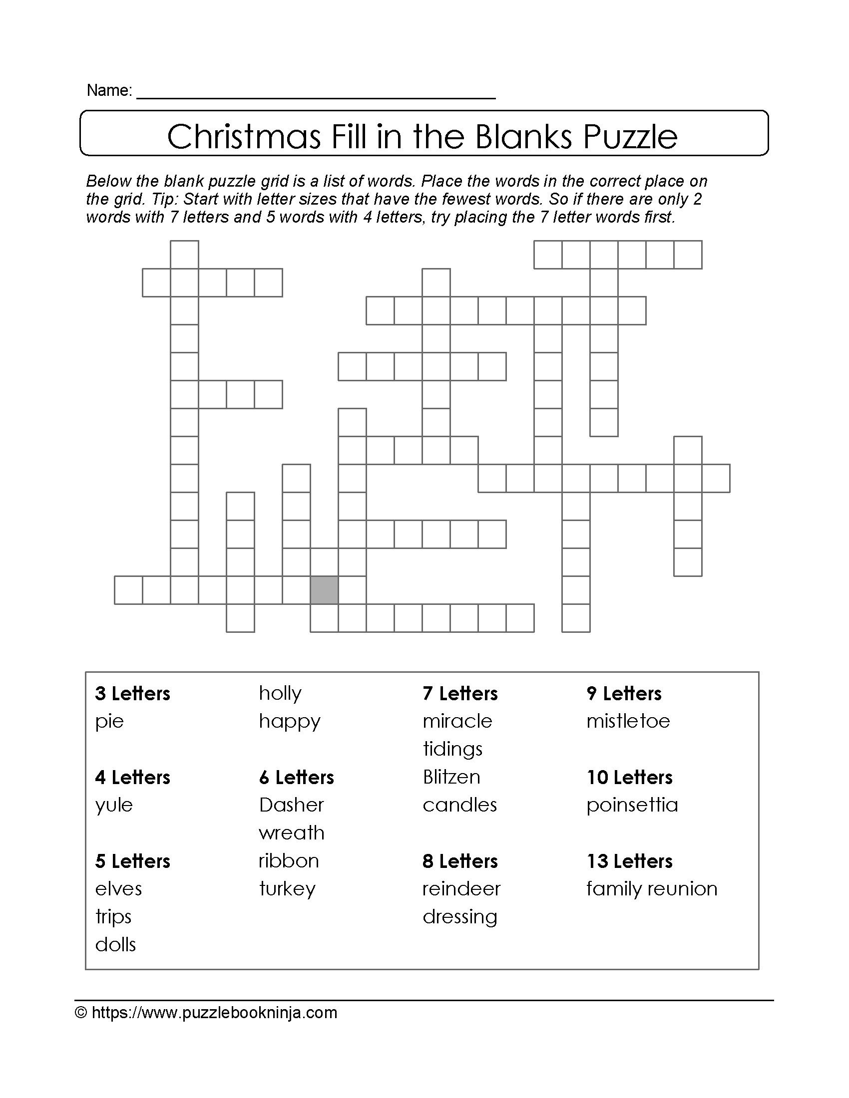 Puzzles To Print. Downloadable Christmas Puzzle. | Christmas Puzzles - Printable Science Puzzle