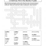 Puzzles To Print. Free Xmas Theme Fill In The Blanks Puzzle   9 Letter Word Puzzles Printable