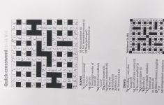 Guardian Quick Crossword Printable Version