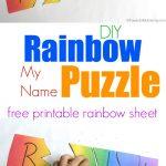 Rainbow My Name Puzzles   Printable Rainbow Puzzle