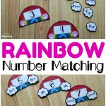 Rainbow Number Word Matching Activity For Kids   Look! We're Learning!   Printable Rainbow Number Puzzle