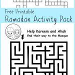 Ramadan Maze And Crossword Printable Activities   In The Playroom   Printable Children's Crossword Puzzles Uk