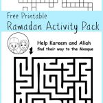 Ramadan Maze And Crossword Printable Activities   In The Playroom   Printable Crosswords For 6 Year Olds Uk