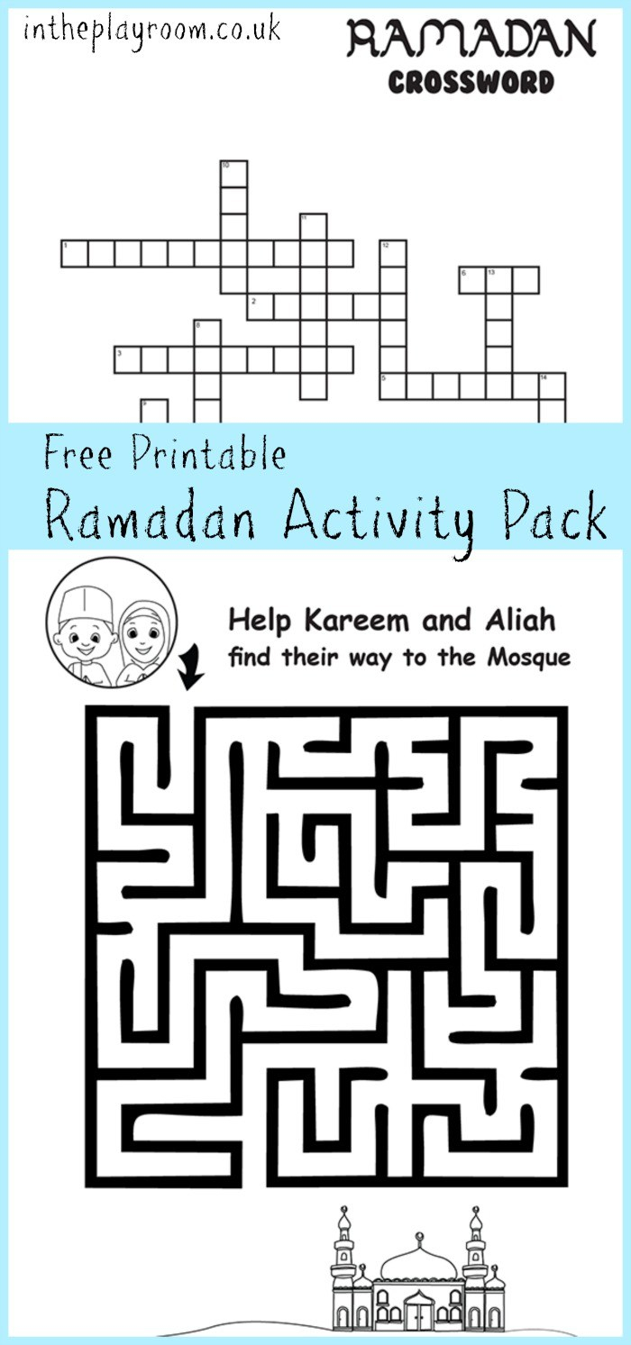Ramadan Maze And Crossword Printable Activities - In The Playroom - Printable Daily Crosswords For October 2015