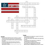 Red, White And Blue Holidays Crossword Puzzle | * Printables   Printable Holiday Puzzles
