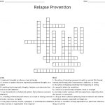 Relapse Prevention Crossword   Wordmint   Printable Recovery Puzzles