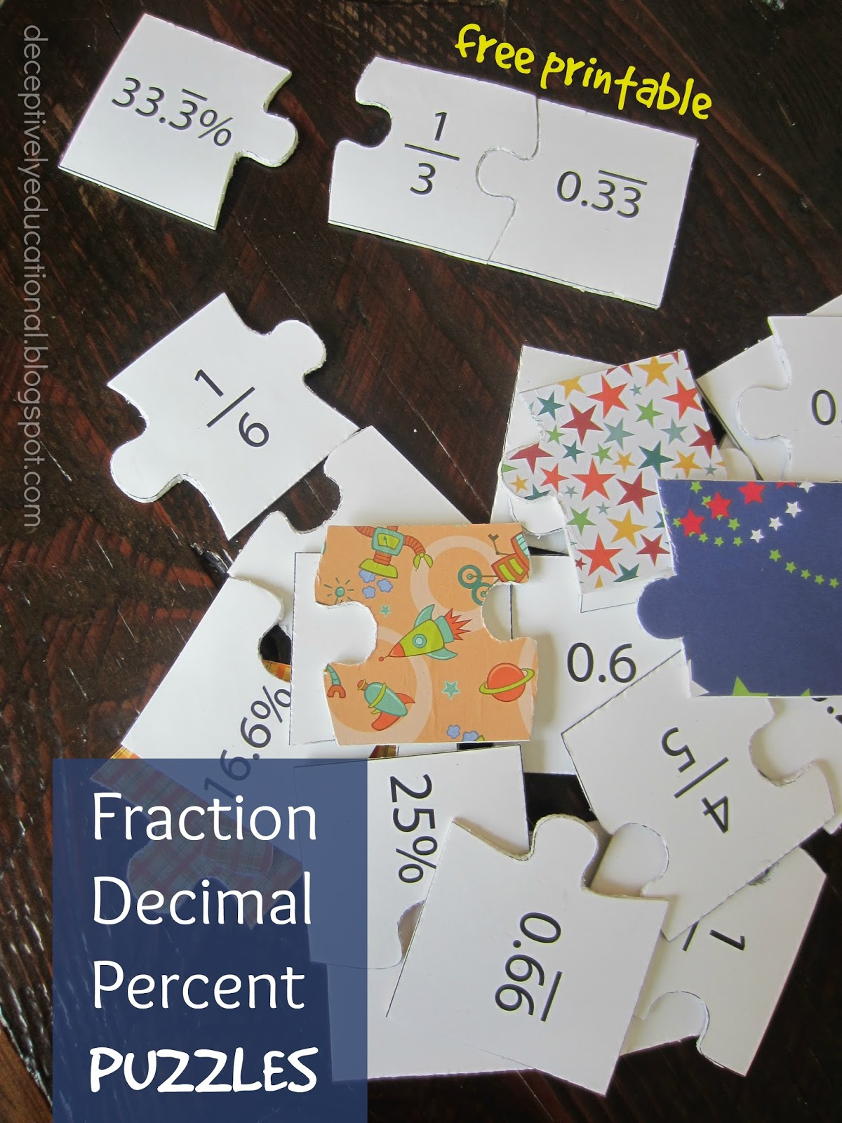 Relentlessly Fun, Deceptively Educational: Fraction, Decimal, And - Printable Decimal Puzzles