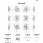 Respect Word Search   Wordmint   Respect Crossword Puzzle Printable