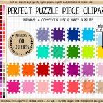 Sale 100 Puzzle Clipart Rainbow Puzzle Printable Sticker Board | Etsy   Printable Rainbow Puzzle