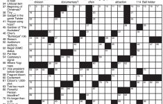 Chicago Sun Times Crossword Puzzle Printable