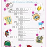 School Subjects Crossword Puzzle Worksheet   Free Esl Printable   Printable Crossword Puzzles By Subject