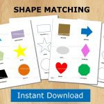Shape Puzzle Toddler Learning Printable File Folder Games | Etsy   Printable Puzzle For Toddlers