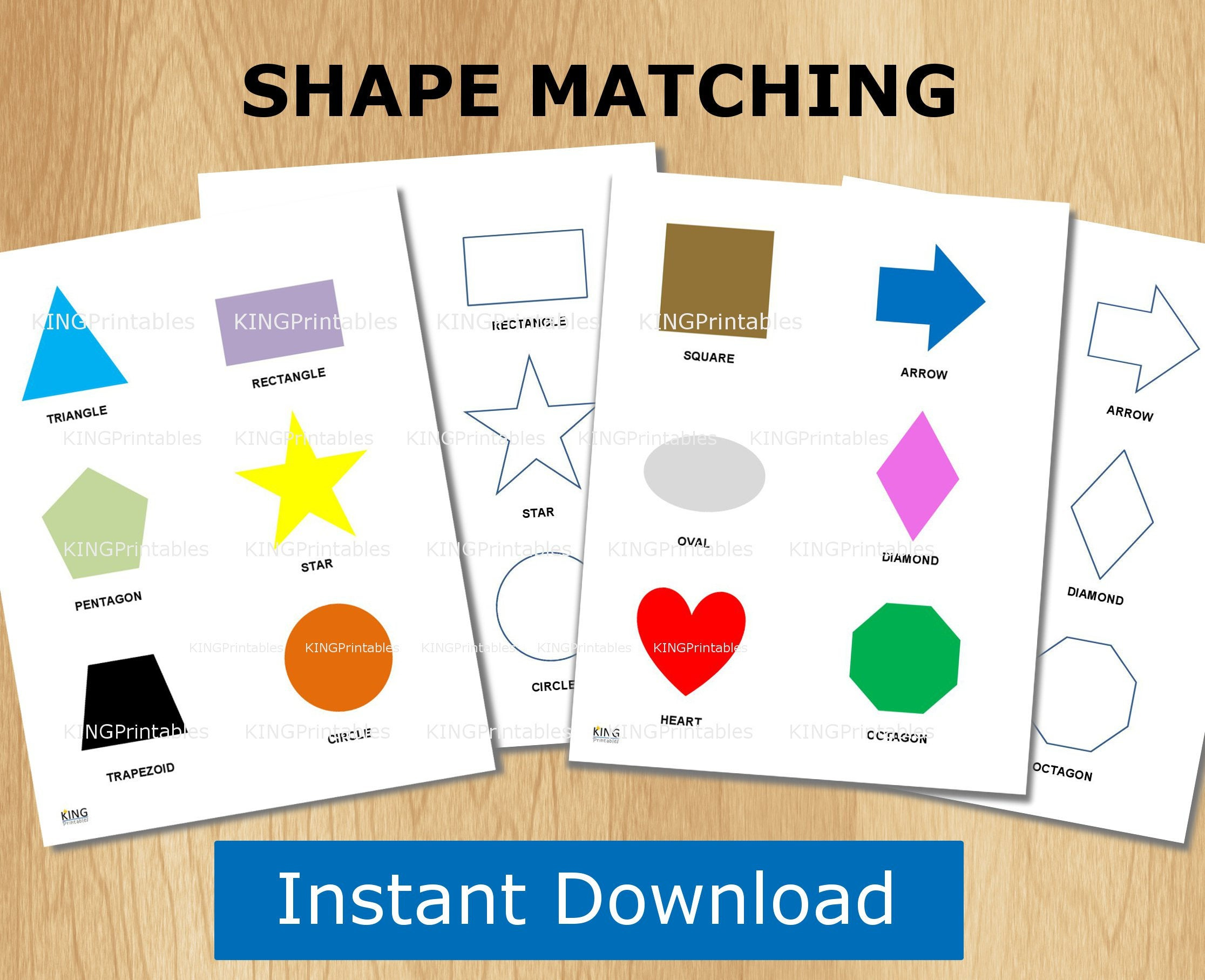 Shape Puzzle Toddler Learning Printable File Folder Games | Etsy - Printable Puzzle For Toddlers