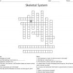 Skeletal System Crossword   Wordmint   Skeletal System Crossword Puzzle Printables