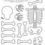 Skeleton Printable, All About Me Theme, Preschool Theme, All About   Printable Skeleton Puzzle