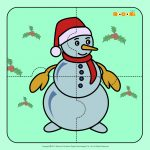 Snowman   Jigzaw Puzzles For Kids | Mocomi   Printable Jigsaw Puzzles For Preschoolers