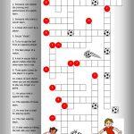 Soccer Crossword Worksheet   Free Esl Printable Worksheets Made   Printable Crossword Puzzles Soccer