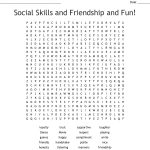 Social Skills And Friendship And Fun! Word Search   Wordmint   Respect Crossword Puzzle Printable
