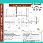 Spelling Grade 2&3 Interactive & Printable Crossword Puzzle | Word   Fun Crossword Puzzles Printable