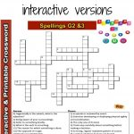 Spelling Interactive & Printable Crossword Puzzle Grade 2&3   Grade   Printable Crossword Puzzles Grade 3