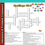 Spelling Interactive & Printable Crossword Puzzle Grade 2&3   Printable Crossword Puzzle For Grade 5