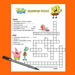Spongebob Crossword Puzzle | Nickelodeon Parents   Teenage Crossword Puzzles Printable Free