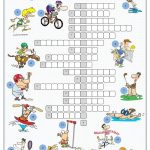 Sports Crossword Puzzle | English | Sports Crossword, Sport English   Printable Crossword Puzzles About Sports