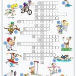 Sports Crossword Puzzle Worksheet   Free Esl Printable Worksheets   Printable Esl Crossword Worksheets