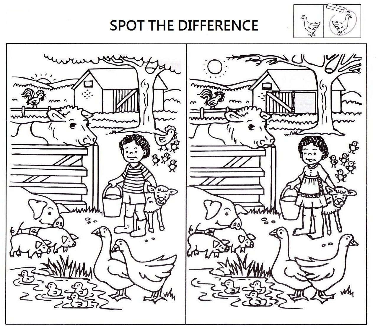 Spot The Difference Worksheets For Kids | English Language | Spot - Printable Spot The Difference Puzzle