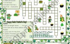 St Patrick's Day Crossword Puzzle Printable