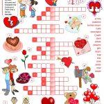 St Valentine's Day   Crossword Worksheet   Free Esl Printable   Printable Valentines Crossword