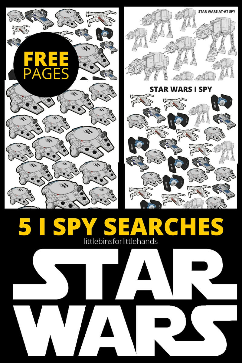 Star Wars I Spy Activities Free Printable Pages - I Spy Puzzles Printable