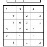 Sudoku For All Ages Plus Lots Of Other Printable Activities For Kids   Printable Sudoku Puzzles 4X4