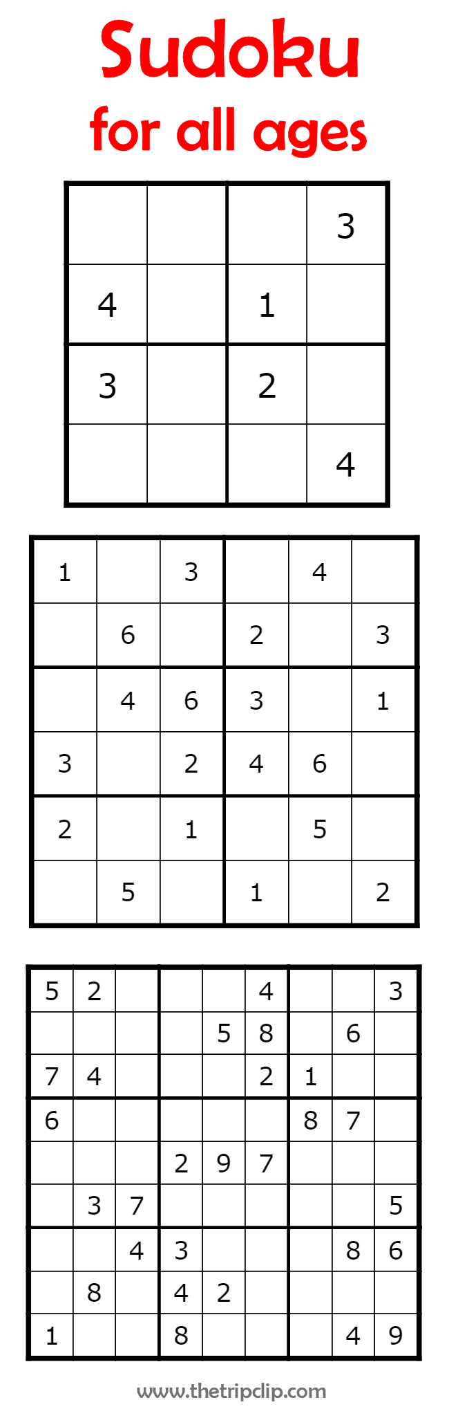 Sudoku For All Ages Plus Lots Of Other Printable Activities For Kids - Sudoku Puzzles Printable 6X6