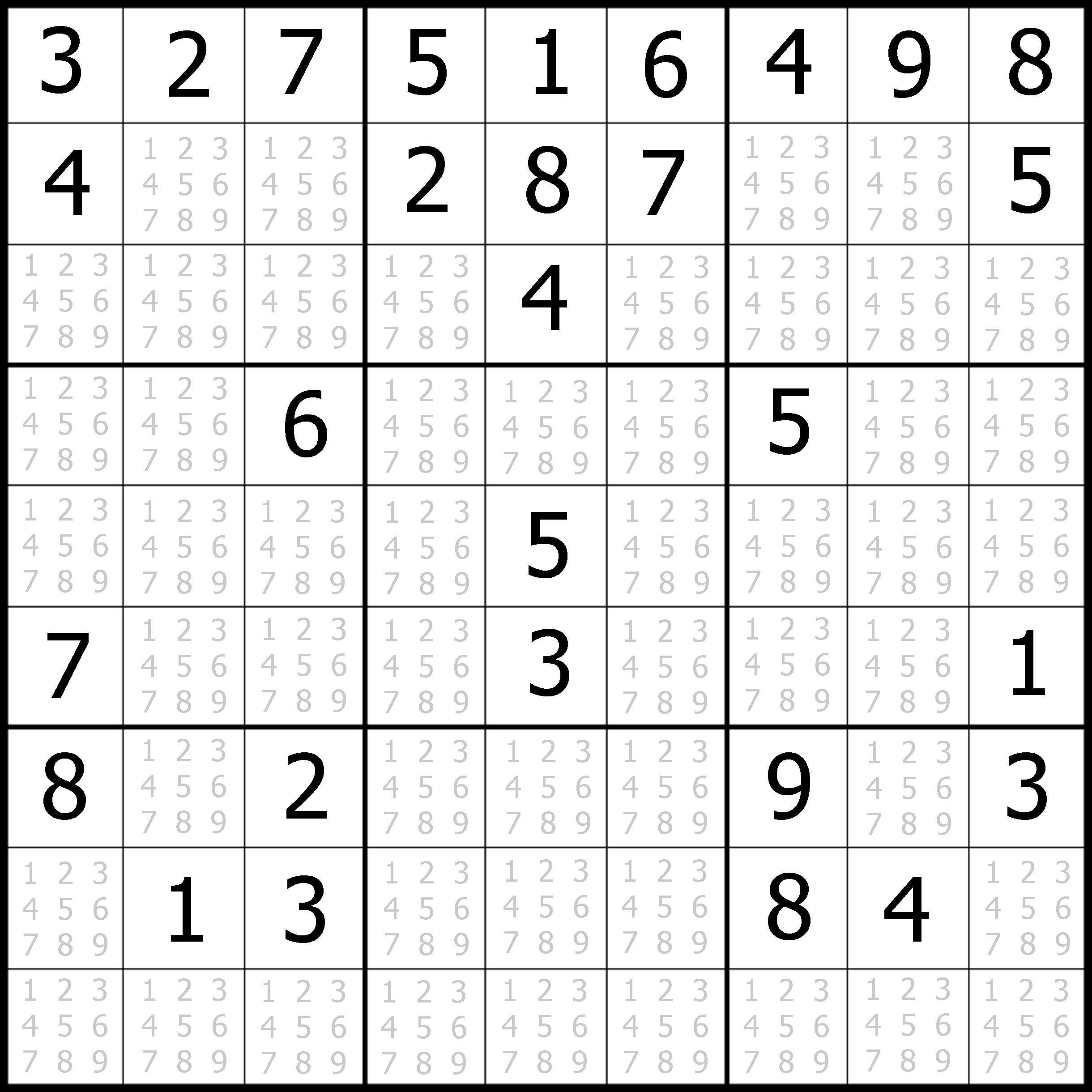 Sudoku Printable | Free, Medium, Printable Sudoku Puzzle #1 | My - Printable Puzzles Sudoku