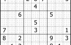 Printable Sudoku Puzzles Easy #1