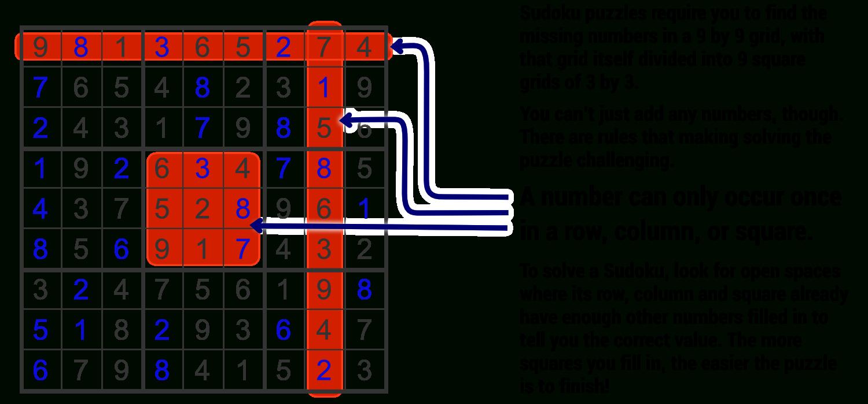 Sudoku - Printable Sudoku Puzzles Easy #1 Answers