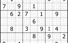 Printable Sudoku Puzzle Medium