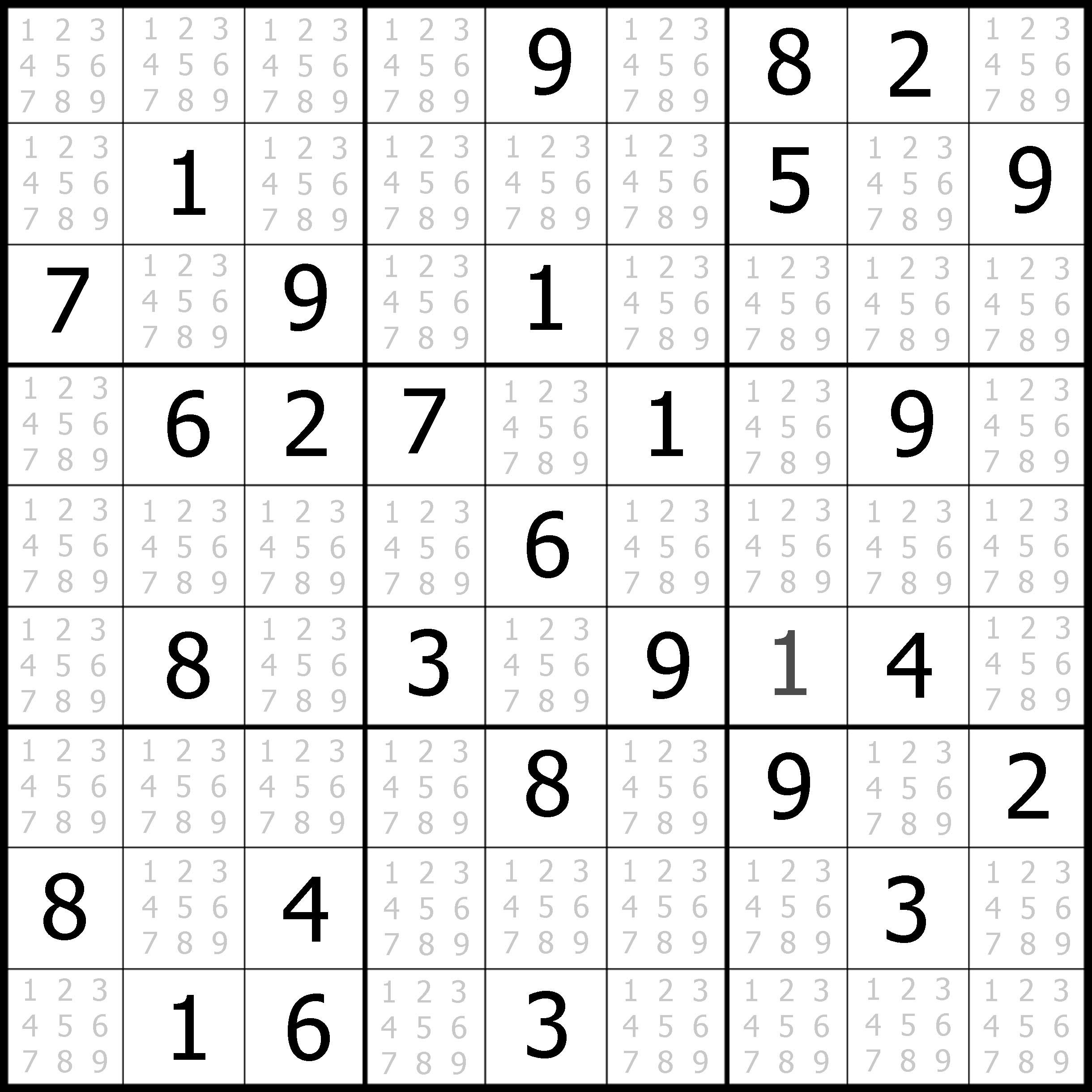 Sudoku Puzzler | Free, Printable, Updated Sudoku Puzzles With A - Printable Sudoku Puzzles Easy #1