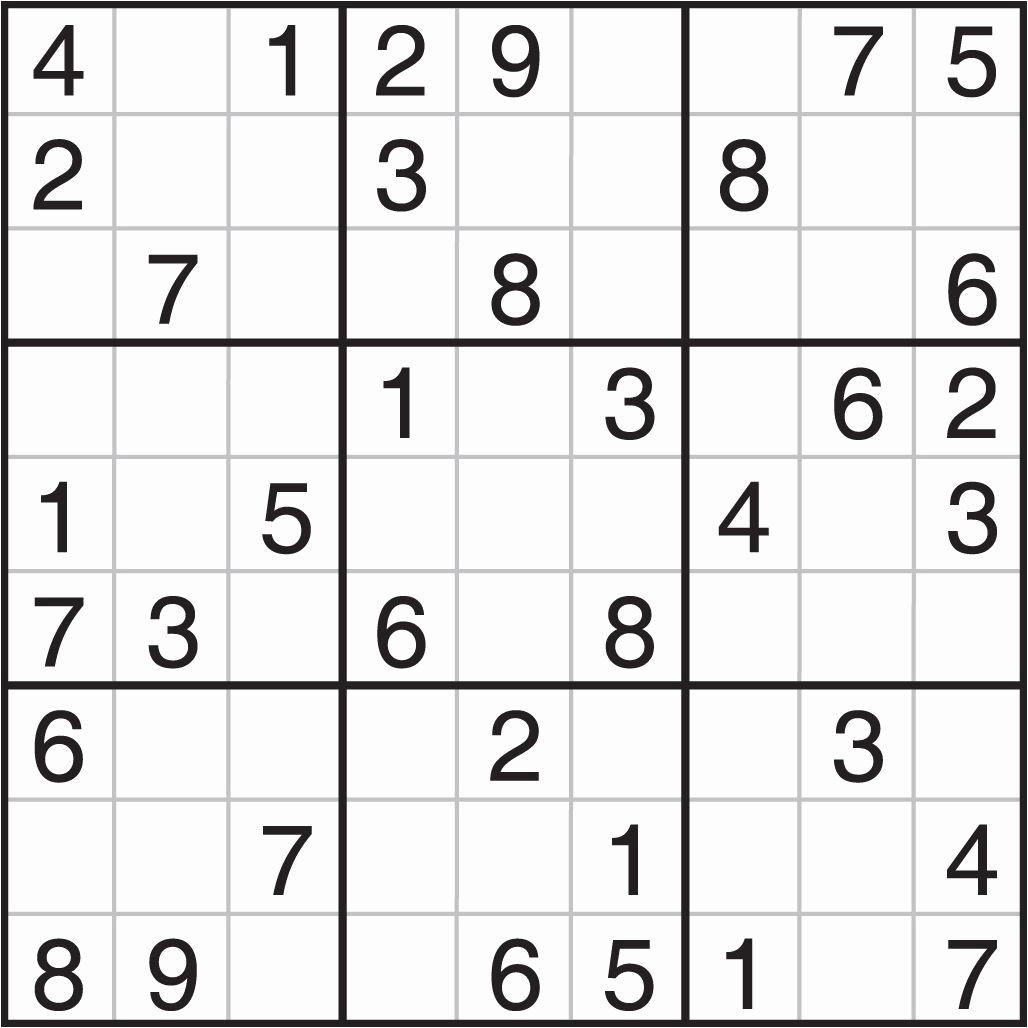 Sudoku Puzzles To Print Free Download Sudoku Printables Easy For - Printable Sudoku Puzzle Medium