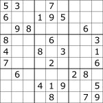 Sudoku   Wikipedia   Free Printable Sudoku 4 Per Page | Free Printables   Printable Sudoku Puzzles One Per Page