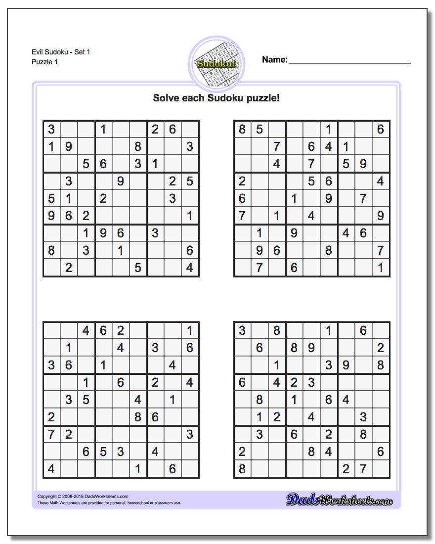 Suduko Printable | Ellipsis - Printable Sudoku Puzzles Krazydad