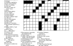 Free Printable Crossword Puzzle Worksheets